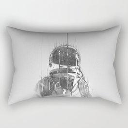 The Space Beyond B&W Astronaut Rectangular Pillow