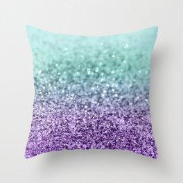 Mermaid Girls Glitter #9 #shiny #decor #art #society6 Throw Pillow