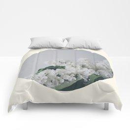 Comforting White Flowers Comforters
