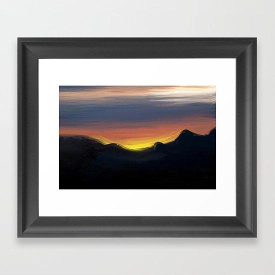 Paint the Sky Framed Art Print