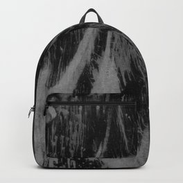Gray black watercolor brushstrokes abstract pattern Backpack