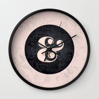 ampersand Wall Clocks featuring ampersand by StudioAmpersand