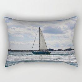 Fifty Percent Sailing Rectangular Pillow