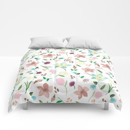 Tropical pastel themed pattern Comforters