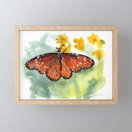 Monarch Butterfly Framed Mini Art Print
