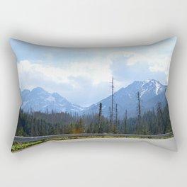 The Walk to Morskie Oko Rectangular Pillow