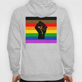 LGBT Pride Flag More Colors Raised Fist (More Pride) Hoody
