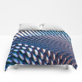 Shiny Blue Dimple Abstract Comforters