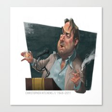 Christopher Hitchens Canvas Print