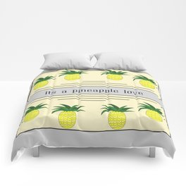 Its a pineapple love Comforters