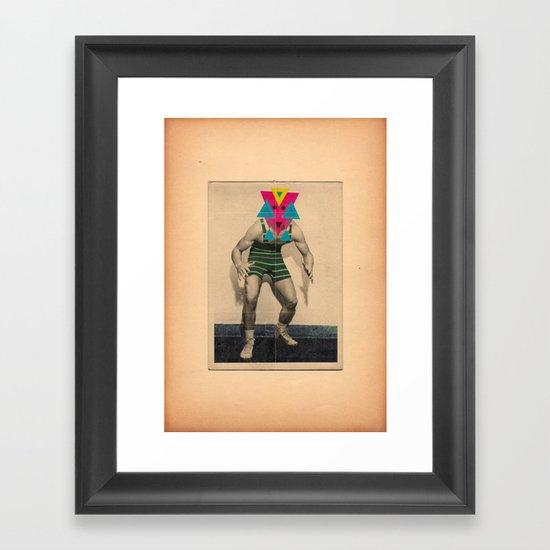 Il lottatore di altri tempi Framed Art Print