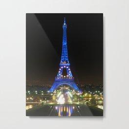 Scenic Eiffel Tower at Night Metal Print