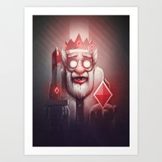 King of Doom Art Print