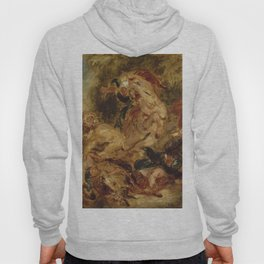 "Eugène Delacroix ""Lion Hunt"" (1854) Hoody"