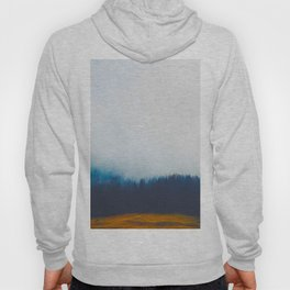 Misty Blue Pine Forest Pine Trees Landscape Photography Hoody