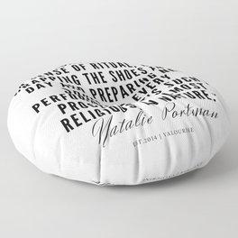 20    | Natalie Portman Quotes | 190721 Floor Pillow