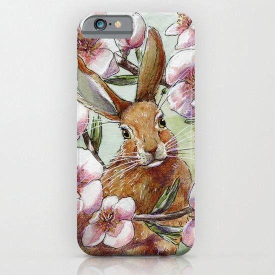 Amandine - Rabbit and flowers iPhone & iPod Case
