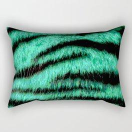 Neon green stripes Rectangular Pillow