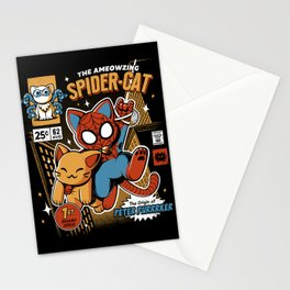Spider Cat Stationery Cards
