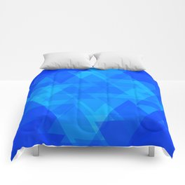 Bright blue and celestial triangles in the intersection and overlay. Comforters