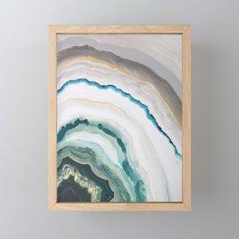 Green Agate #1 Framed Mini Art Print