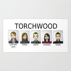 TORCHWOOD Art Print