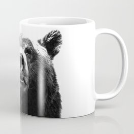Black and white bear portrait Coffee Mug
