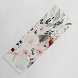 Loose Watercolor Bouquet Yoga Mat