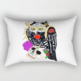 Sugar Skull Owl And Skull Rectangular Pillow