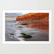 Hunstanton Cliffs, Norfolk Art Print