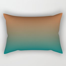 Quetzal Green Meerkat Gradient Pattern Rectangular Pillow