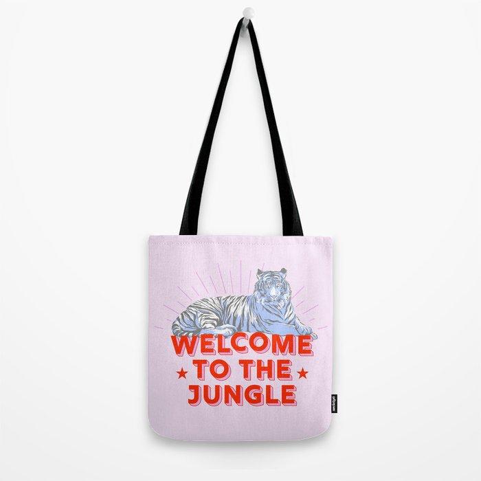 welcome to the jungle - retro tiger Tote Bag
