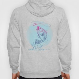 Bass jumping In Blue Circle3 Hoody