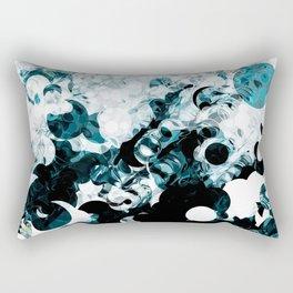 Modern Splash of Turquoise Black White Design Rectangular Pillow