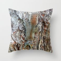 Find The Squirrel Throw Pillow