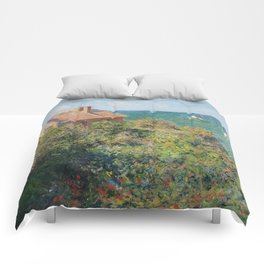 Fisherman's Cottage at Varengeville by Claude Monet Comforters