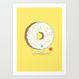 The Sleepy Donut Art Print