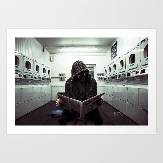 Washing Clothes Art Print