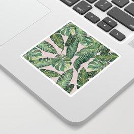 Jungle Leaves, Banana, Monstera Pink #society6 Sticker