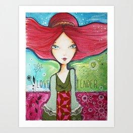 Love me tender Art Print