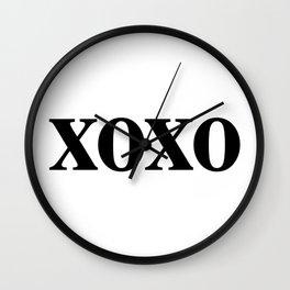 Black XOXO Wall Clock