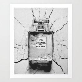 Broken perfume bottle Art Print