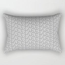 Ask About The Illuminati Rectangular Pillow