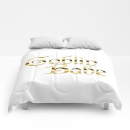 Labyrinth Goblin Babe (white bg) Comforters