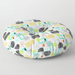 Modern Colorful Bright Stripes Pattern Floor Pillow