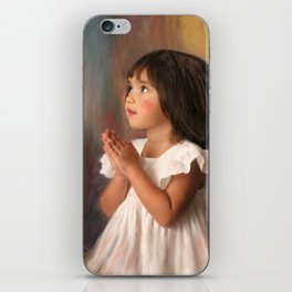 Precious child praying iPhone Skin