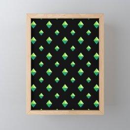 Emerald Diamonds Framed Mini Art Print