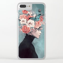 blooming 3 Clear iPhone Case