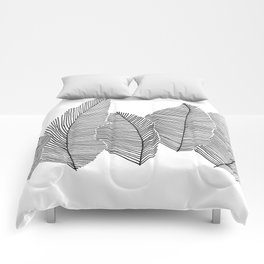 drawn feathers Comforters