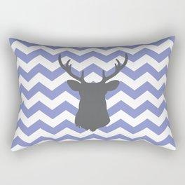 Purple chevron deer Rectangular Pillow